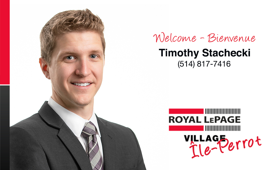 Tim Stachecki joins our Ile Perrot team